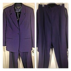 Kasper~100% Wool 2Pc Jacket Blazer & Pant Suit